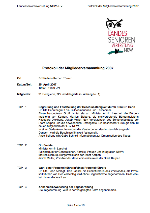 Protokoll LSV NRW Der MV 25 04 2007 Pdf Image