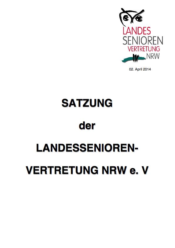 Satzung LSV NRW Pdf Image