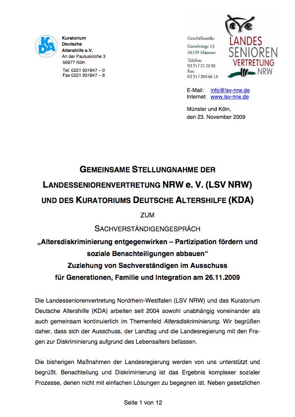 2009 Stellungsnahme Altersdiskriminierung Pdf Image