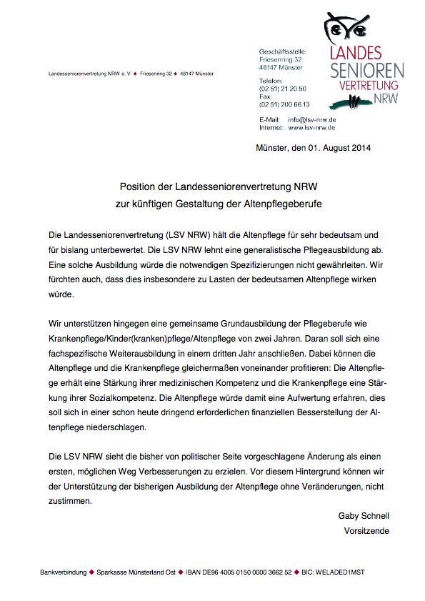 Position Der LSV NRW Altenpflegeausbildung Pdf Image