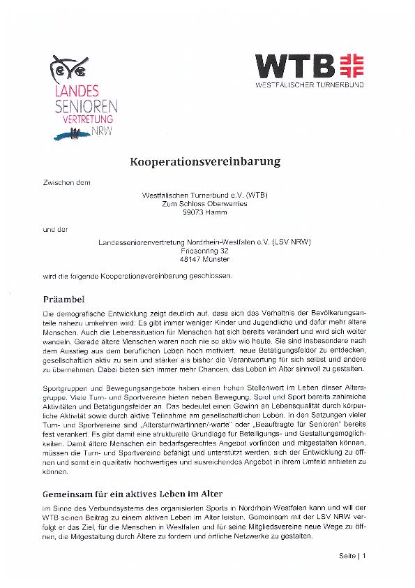 KooperationsvereinbarungWTBJuni2014 Pdf Image