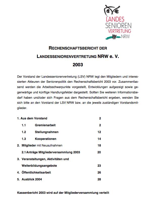 Rechenschaftsbericht 2003 Pdf Image