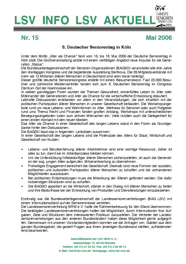 INFO LSV AKTUELL Nr  15 8  Deutscher Seniorentag Pdf Image