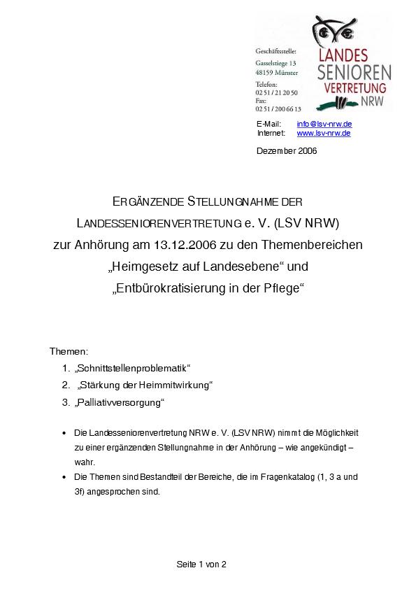 Stellungnahme Heimgesetz 2006 Pdf Image