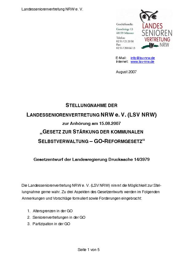 Stellungnahme GO Reformgesetz 2007 Pdf Image