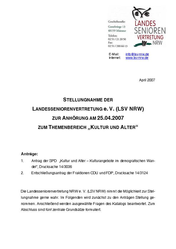 Stellungnahme Kultur Und Alter 2007 Pdf Image