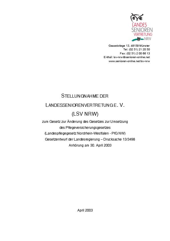 Stellungnahme Landespflegegesetz 2003 Pdf Image