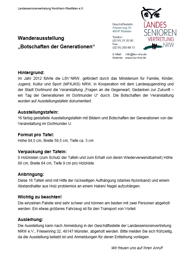 Info Ausstellungstafeln BotschaftenderGenerationen Pdf Image