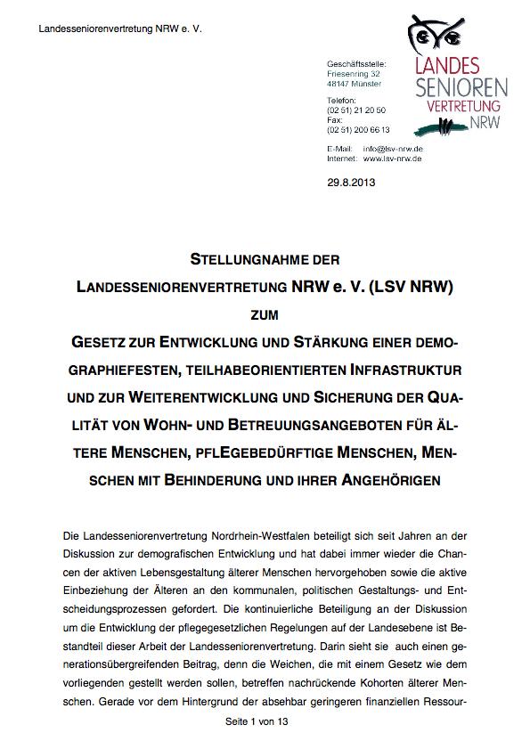 2013 Stellungnahme LPG WTG Gesetz Pdf Image