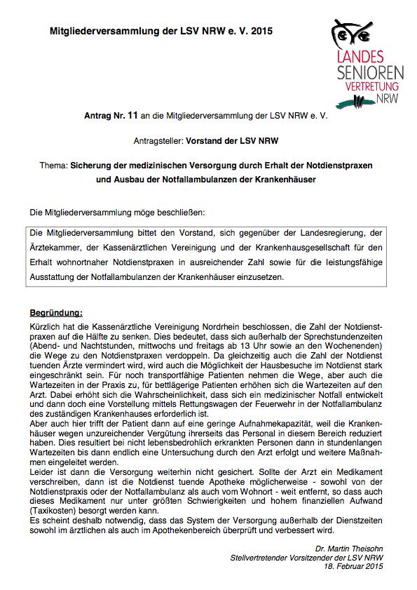 Antrag Nr  11 MV 2015 Vorstand Notdienste Pdf Image