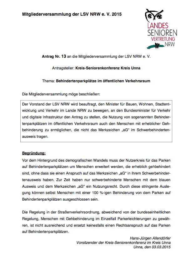 Antrag Nr  13 MV 2015 Unna  Kreis Pdf Image